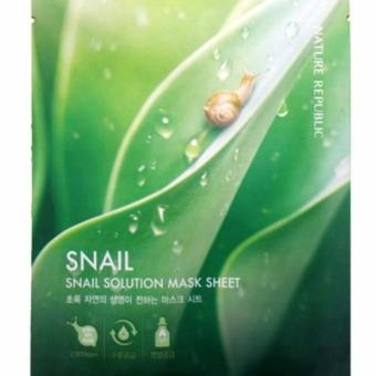Harga Nature Republic SNAIL Solution HYDROGEL Mask Sheets