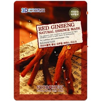 Harga Food a Holic 3D Mask - Red Gingseng (Masker Wajah Asli Korea, Bukan KW)