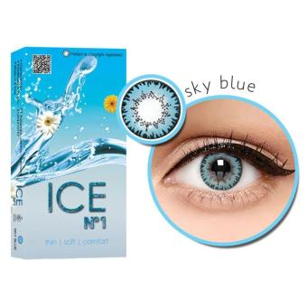 Harga X2 Ice Nude Exoticon N1 Softlens - Sky Blue + Free Lenscase