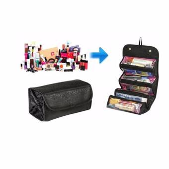 Harga Tas Cosmetik Organizer Bag Make Up Roll N Go - Hitam