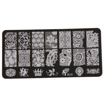 Harga Yingwei Nail Art Templates Plates Manicure Stencil BC-01 Black