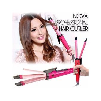 Alat catok rambut / alat catokan rambut pelurus rambut/kriting catokan nova 2 in 1
