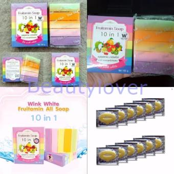 Harga Fruitamin Soap by Wink White 1 Pcs + Makser Bibir Collagen 10 Sachet