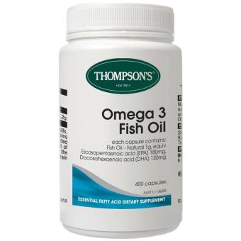 Thompson Premium Fish Oil 1000mg - Omega 3 - 400 Kapsul