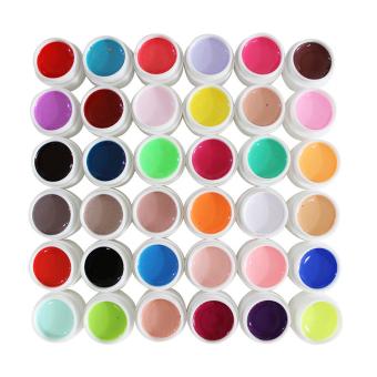 36warnd dekorasi Nail Art sinar uv gel murni untuk campuran membuat warna dibetulkan Aksesoris