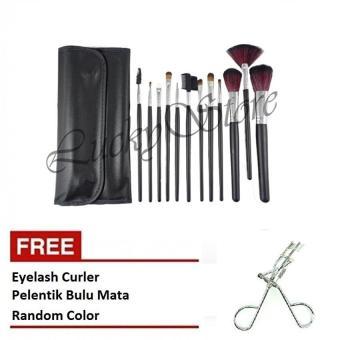 Kuas Make Up - 12 Pcs + Free Eyelash Curler - Pelentik Bulu Mata ...