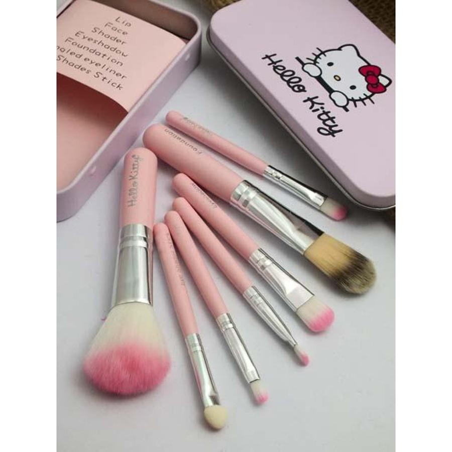 Kuas Make up Hello Kitty Set 7 in 1 / Brush Hello Kitty Set 7 in 1