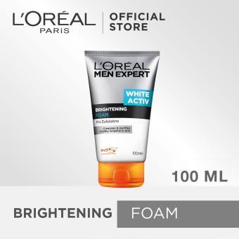 L'oreal Paris White Activ Brightening Foam - Pembersih Wajah Untuk Pria - 100 ml