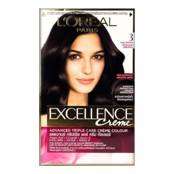 L'Oreal Excellence Hair Color Coklat Tua Alami 3