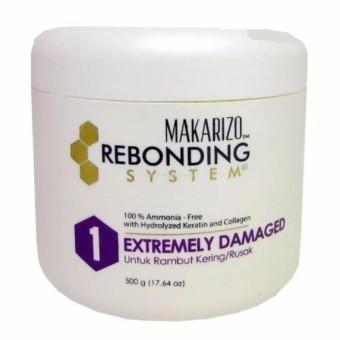 Makarizo Rebonding System Extremely Damaged Untuk Rambut Keriting / Rusak - 500gr