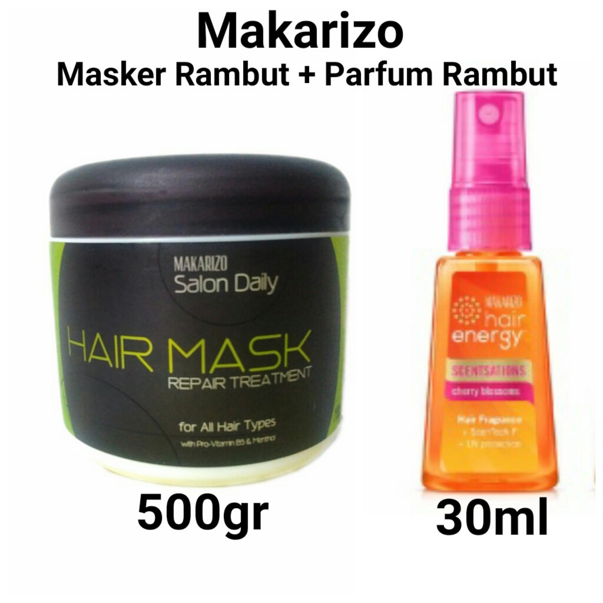 Best Price Makarizo Salon Daily Masker Rambut 500gr Parfum Rambut 30ml beli sekarang