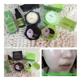 MELLIUS PAKET GLOSSY FPD (DAY CREAM, NIGHT CREAM, VEGE SERUM DANSABUN HIJAU) / KRIM PEMUTIH WAJAH ORIGINAL