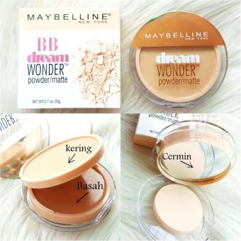 Mesh Bedak MybLiNe Dream Wonder 2in1 Compact Powder Padat Basah Natural - 1 pc