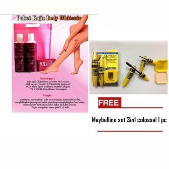 Mesh Paket Kojic Pemutih Badan 100% Original FREE maybelline set3in1 colossal 1 pc