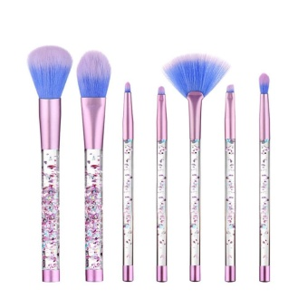 niceEshop Unicorn Thread Professsional 7pcs Makeup Cosmetic Brushes Set With Colorful Rainbow Delicate Handle Foundation Blending