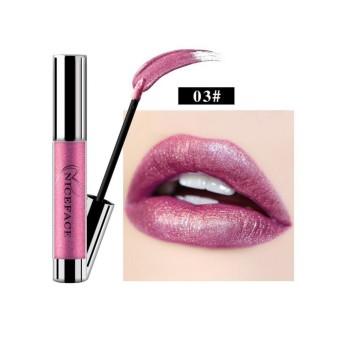 NICEFACE 7 Warna Metalik Bibir Gloss Logam Liquid Lipstik Anti-Air Warna Tidak Mengkilap Lipstik