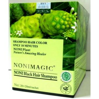 NONI MAGIC BSY 20 Sachet Original - NONI BLACK HAIR SHAMPOO