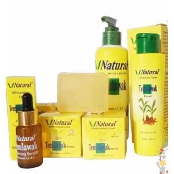 Hirakashop - Paket Temulawak V Natural BPOM 6in1 - Perawatan Wajah Lengkap - Cream Siang &