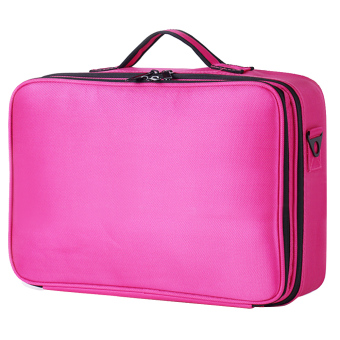 Portable Travel 3-layer Large Space Waterproof Kosmetik Makeup Penyimpanan Alat Kecantikan Carrying Case Organizer