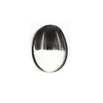 Pretty Girls Klip Pada Klip Di Rambut Depan Bang Fringe Hair Extension Piece Tipis-Intl