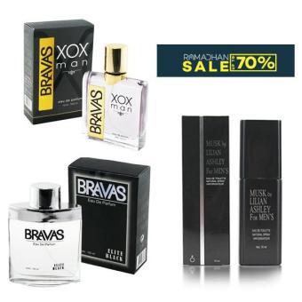 Promo Lebaran Parfum Hemat Original Pria Masculine Black Eau De Pefume 100Ml