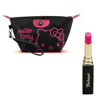 Purbasari Lipstick Color Matte 92 Free Alisha Tas Kosmetik Mini 206-Hitam