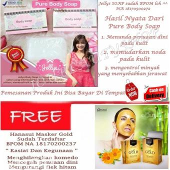 PURE SOAP BPOM BY JELLYS / PURE BODY SOAP BY JELLYS + Naturgo Hanasui GOLD Mask