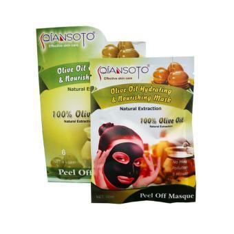 Qiansoto Olive Oil Hydrating & Nourishing Mask 35ml - 1 Box Isi 6 Pcs
