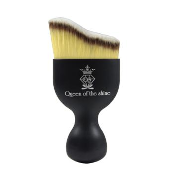 Queen Of The Shine Make Up Brush / Curved Brush / Kuas Make Up /Kuas Blush On 006 (Black-Yellow)