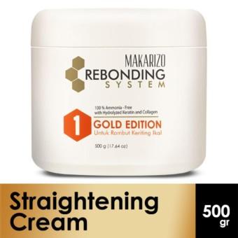 Makarizo Professional Rebonding System Straightening Cream Gold Edition Pot 500 gr