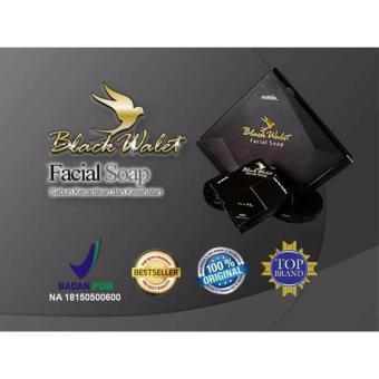 Black Walet Facial Soap BPOM CV Rajawali Emas Sabun Pembersih dan pemutih Wajah - 3pcs