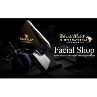 Black Walet Facial Soap BPOM CV Rajawali Emas Sabun Pembersih dan pemutih Wajah - 3pcs .