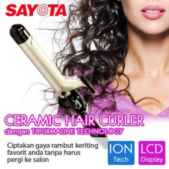 2in1 Catok Rambut Lurus Ikal Keriting Hair Straightener & Curly Catokan - Hitam .