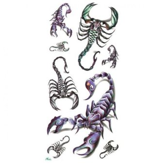 Scorpion Tato Design Temporary Waterproof Body Tattoo Sticker