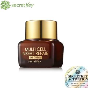 Secret Key Multi Cell Night Repair Eye Cream Anti Aging Krim Mata - 15gram
