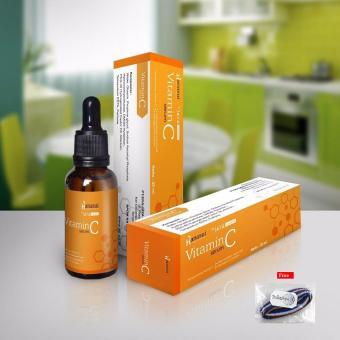Serum Vitamin C Hanasui Jaya Mandiri - 20ml + Free Ikat Rambut Polkadope - 1 Pcs