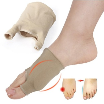 Silicone Cushion Pad Hallux Valgus Toe Bunion Protector 1 Pair Foot Care Pad - intl