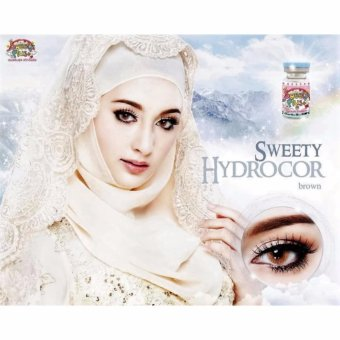 Sweety Hydrocor Softlens - Brown + Free Lenscase