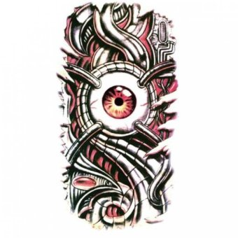 Temporary Tattoo Of Body Waterproof Tato Sticker Big Death Eye Tatto