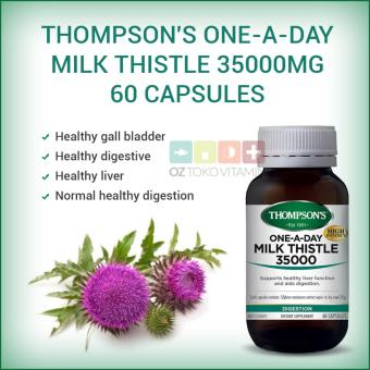 Thompson's One-A-Day Milk Thistle 35000mg Kesehatan Liver 60Capsules
