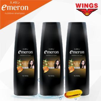 [TRIPLE PACK] Emeron Shampoo Black and Shine 170 mL x 3pcs