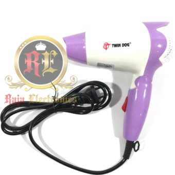 Twin Dog Pengering Rambut TD 2235   Hair Dryer Lipat Mini 350 watt 21e57a1867