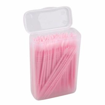 Vinmax 150 Pcs Sekali Pakai Gigi Oral 2 Way Plastik Tusuk Gigi Interdental  Sikat dengan Portable 175328b4f9