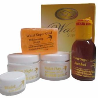 Cream Walet Premium Super Gold Whitening Original + Anti Aging Pot Putih