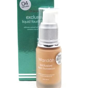 Wardah Exclusive Liquid Foundation # 04 Natural