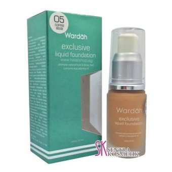 Wardah Exclusive Liquid Foundation - COFFEE BEIGE 05