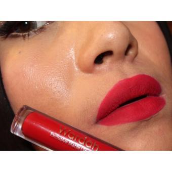 Wardah Exclusive Matte Finish Lip Cream # 06 - Feeling Red.