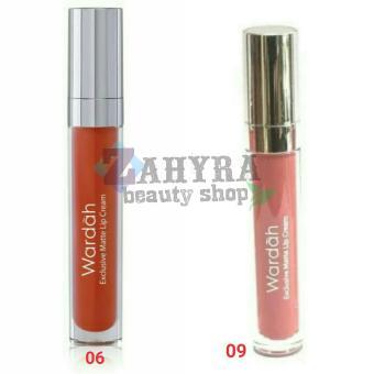 Wardah Exclusive Matte Lip Cream 06 Feeling Red dan 09 Mauve On ...