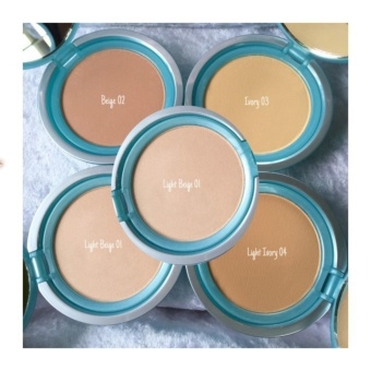 Wardah Luminous Two Way Cake - 01 Light Beige
