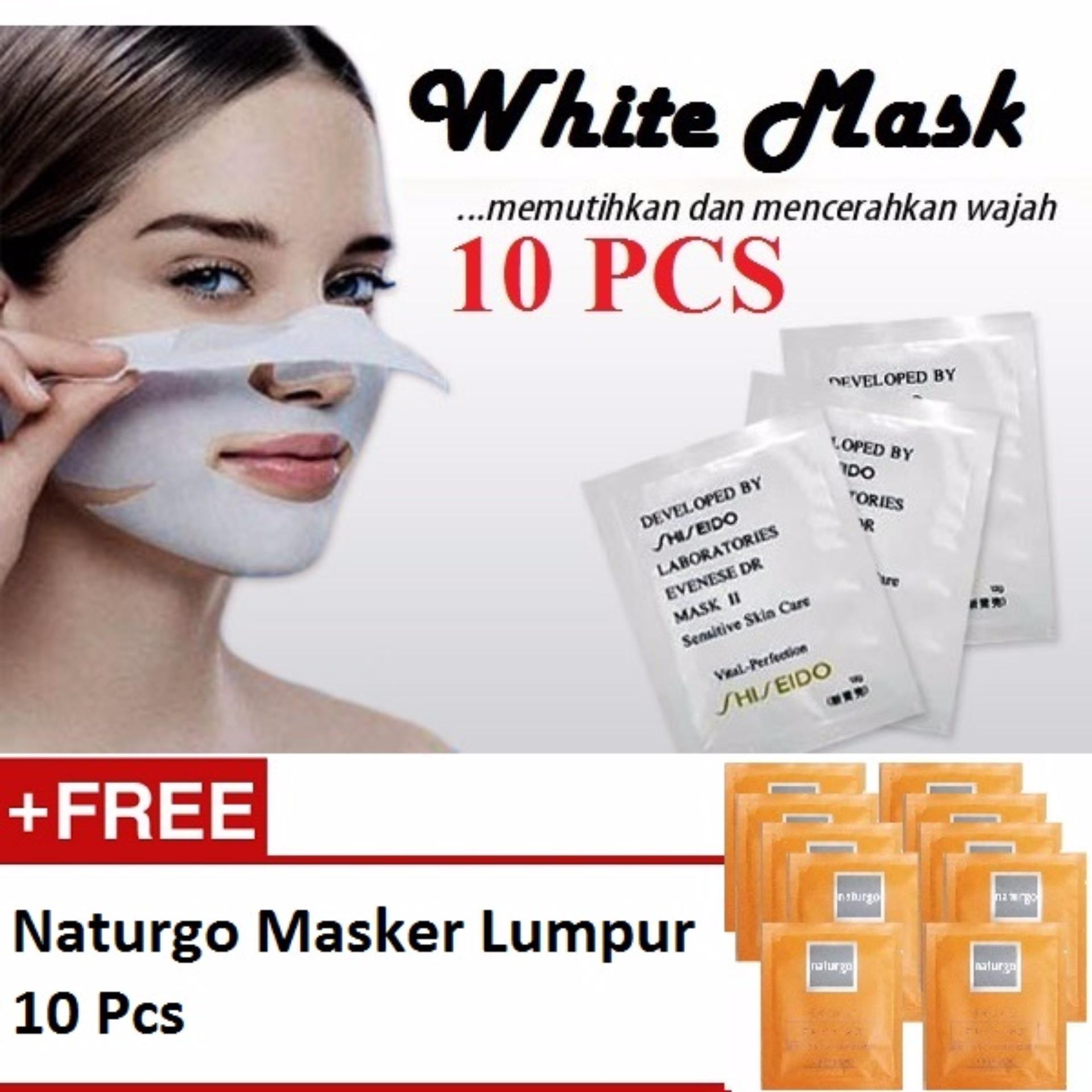 10pcs Black Masker Wajah Muka Komedo Hitam Naturgo Lumpur Cek Original Thailand Whitening Mud Shiseido Shock Price White Mask Pengangkat 10 Pcs
